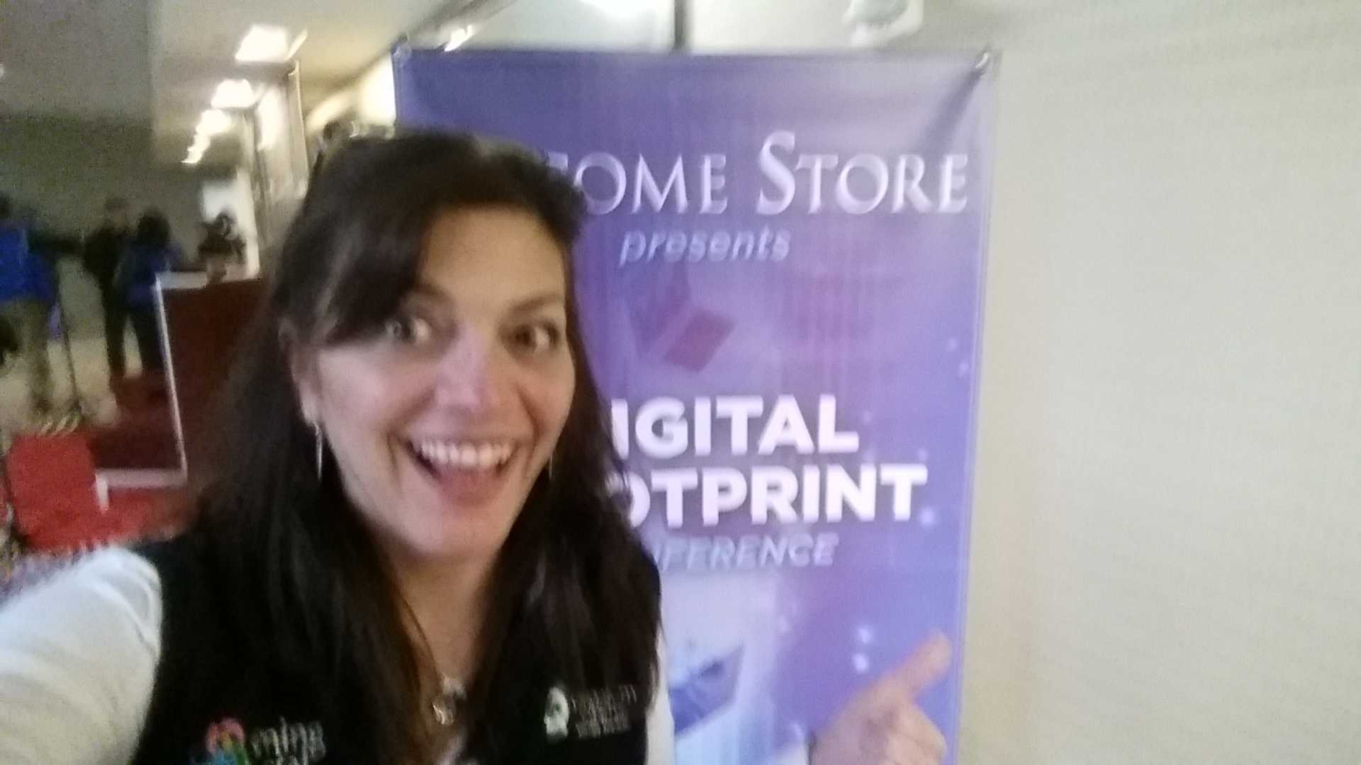 Monica Amadio at the Digital Footprint Conference