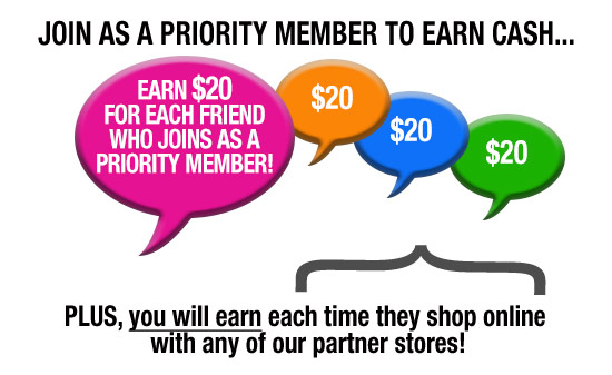 Priority Members earn $20 for each friend referred who joins as a Priority Member. PLUS, earn 5% of the Rewards Volume in your Earning Social Universe.